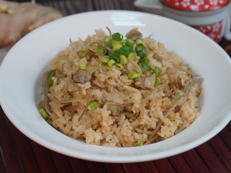 牛蒡文蛤炊飯
