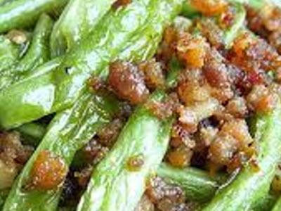 四季豆榨菜炒肉絲