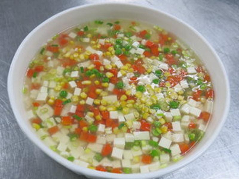 甜玉米燴豆腐(燴)